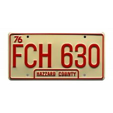 'Dixie' Jeep CJ-7 Golden Eagle FCH 630 License Plate The Dukes of Hazzard