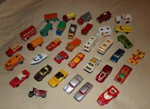 35 CLEAN Lesney Matchbox Superfast LARGE lot of Cars Trucks Trailer Bus 1970's