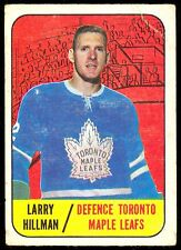 1967 68 TOPPS HOCKEY #80 LARRY HILLMAN VG-EX TORONTO MAPLE LEAFS CARD