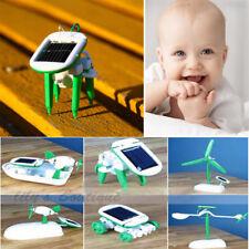 Creative DIY 6 In 1 Educational Learning Power Solar Robot Kit Children Kids Toy