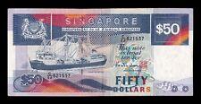 """B-D-M Singapur Singapore 50 Dollars Vessel """"Perak"""" 1987 Pick 22b MBC+ VF+"""