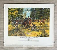 Vintage 1953 The Road Of Fallen Timbers Department of the U.S. Army Poster 21-38