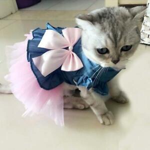 Pet Winter Warm Skirt Dog Girl Princess Dress Fancy Mesh Dress Doggie