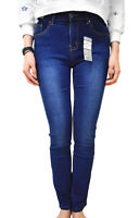 WAKEE BLUE HIGH RISE STRAIGHT LEG JEANS. SIZE 6 - 16