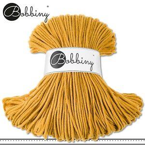 Bobbiny 100 m Flechtkordel 3 mm | Mustard | Basteln Baumwolle Hobby PREMIUM