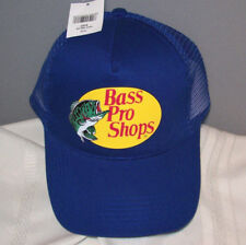 BASS PRO SHOPS Logo Royal Blue Cotton Polyester Mesh  Ball Cap