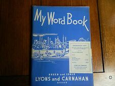 MY WORD BOOK 1949 LYONS AND CARNAHAN FIFTH GRADE UNUSED EXAMINATION COPY