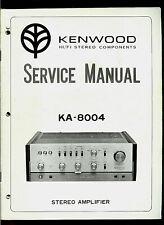 Kenwood KA-8004 Solid State Stereo Amplifier Original Factory Service Manual