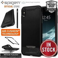 iPhone XS Max Case, Genuine SPIGEN Hybrid NX Carbon Fiber Tough Cover for Apple