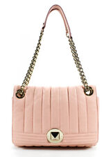 Kate Spade New York Womens Chain Link Quilted Leather Crossbody Handbag Pink