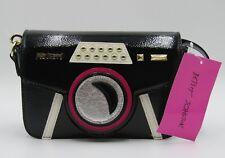 Betsey Johnson KITSCH Black CAMERA Crossbody Bag Purse New
