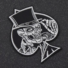 1pc Punk Rock Heart Skull Patches Embroidered Sew Applique Patches Fabric Badge
