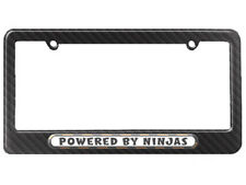Powered By Ninjas License Plate Tag Frame - Carbon Fiber Pattern
