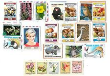 BURUNDI - Selection of Stamps on Paper from Kiloware
