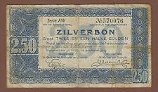 alter Geldschein 2,5 Gulden 1938 schönes Stück