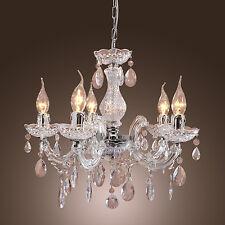 Modern Vintage Ceiling lamp 5 Candle lights lighting Acrylic Chandelier Pendant