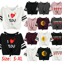 Women I Love You 3000 Times Short T-Shirt Short Sleeve Casual Blouse Loose Tops