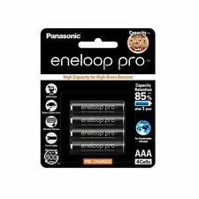 4x Panasonic Eneloop Pro 900mAh AAA High Capacity Rechargeable Batteries New LE