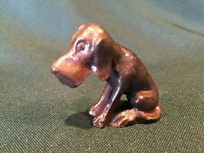 Vintage Bronze Metal Basset Hound Figurine - Very Nice!