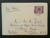Pakistan To Sydney New South Wales Australia Sea Mail Overprint Cover