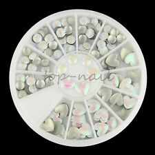 Top Nail 1 Wheel Nail Art Acrylic White Round Heart Manicure Decoration ZP146