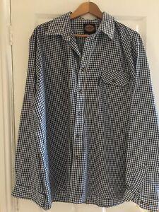 Mens Dickies Checked Tartan Long Sleeve Shirt Size 2XL