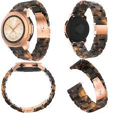 Für Samsung Galaxy Watch 42mm & Huawei 2 Acetate Fiber Armband Uhrenarmband 20mm