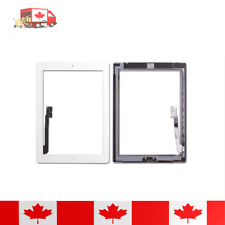 iPad 3 White Touch Screen Digitizer With Home Button + Adhesive & Tempered Glass