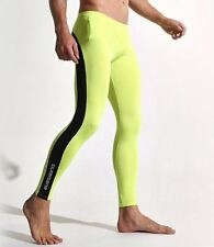 Sexy X Large Lime & Black Compression Running Tights Training Activewear Gay UK