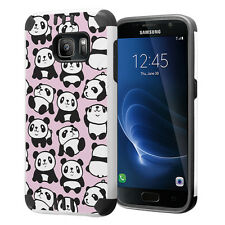 Hybrid Dual Layer Armor Case for Samsung Galaxy S7 - Pink Panda