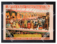 Historic Barnum & Bailey Greatest Show on Earth Poster Advertising Postcard