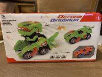 LED Deformed Dinosaur Car Electric Lights Music for Children Kids Gifts Toy