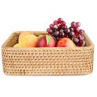Natural Rattan Storage Basket Handmade Wicker Baskets For Storage Display Gift