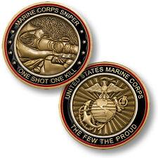 "U.S. Marine Corps Sniper - ""One Shot, One Kill"" USMC Challenge Coin"