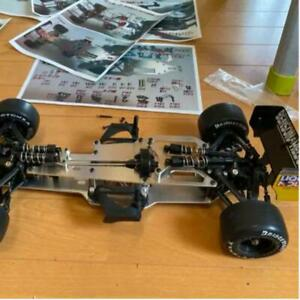 Tamiya 1/10 RC F201 Chassis 4WD Used Excellent with New clear cowl included