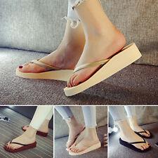 Fashion Women Casual Comfort Wedge Platform Flip Flops Thong Lady Sandals Shoes