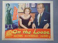On The Loose lobby card movie poster vtg 1951 teenage exploitation bad girl