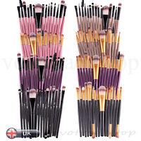 Professional 15 Pcs Makeup Brushes Set Lip Liner Shade Foundation Cosmetic Brush