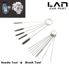 15pc Car Motorcycle Carburetor Cleaning Needles brushes Dirt Jet Remove Tool Kit