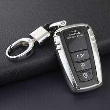 Key Fob Case Cover For Toyota Camry RAV4 CHR Avalon Prado Prius Corolla Silver