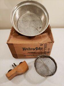 Vtg KitchenAid Food Preparer Attachment Colander Sieve Set In Box 4-13