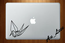 Macbook Air Pro Vinyl Skin Sticker Decal Japanese Paper Crane Origami Craft M714