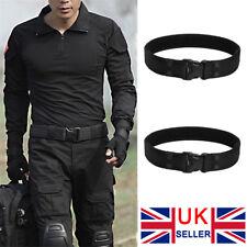 Cool Black Men Outdoor Hiking Sport Waistband Army Military Nylon Buckle Belt UK