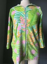 Lilly Pulitzer Girl's Cover Up Swim Jacket Terrycloth Cotton Tropical Size 8