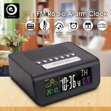 Digoo Digital 12/24h Wireless Weather Forecast Station FM Radio Dual Alarm Clock