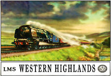 Art Poster Western Highlands LMS RAILWAY Voyage ad print