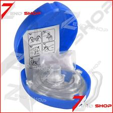 CPR Pocket Resuscitator Rescue Mask MCR Medical CPR Face Mask Blue