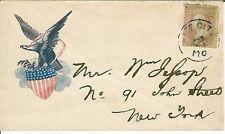 Civil War Patriotic Envelope Eagle Holding USA Shield with Fake Cancel Missouri