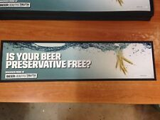 Is Your Beer Preservative Free Bar Mat - beer the beautiful truth.com