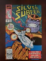 Silver Surfer #34 (9.2) 1990 (Ron Lim) Marvel (Silver Surfer meets Thanos)